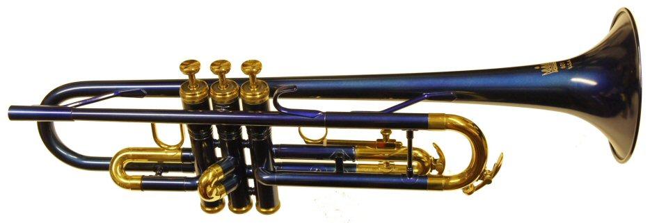 Blue Yamaha Trumpet