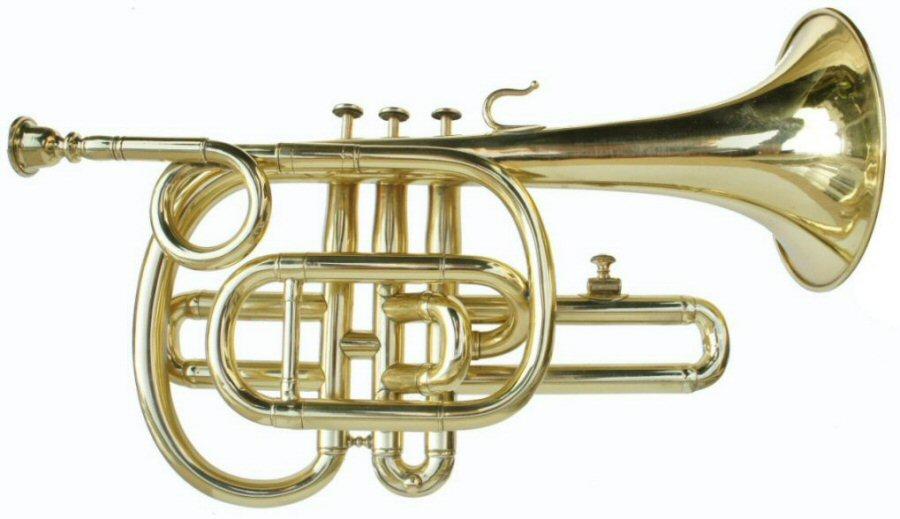 Brass Cornopean with 3 Crooks