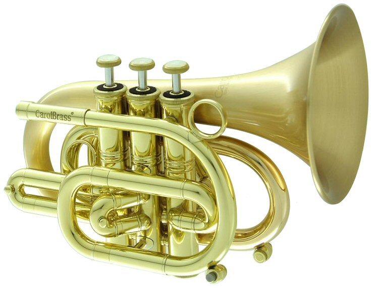 CarolBrass CPT-3000-GLS-Bb-SLB Pocket Trumpet