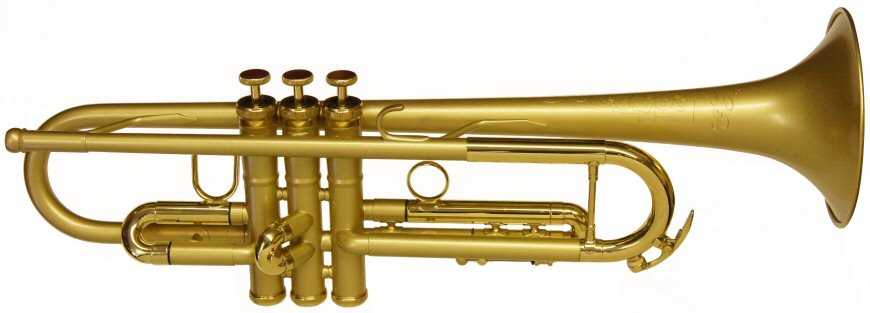 "Conn 52B-SLB Trumpet. CONNstellation, Bb, .459"" (11.65mm) bore, 4-7/8"" (124mm) one-piece bell, Monel pistons, 1st slide saddle, reverse leadpipe, rounded main tuning slide, heavy top and bottom valve caps, patented Modular Valve Weight (MVW) system. Conn 52B-SLB Trumpet has satin lacquered brass finish with bright bell and trim."