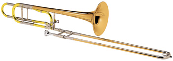 """Conn 88HO Trombone. Symphony' .547"""" (13.89mm) bore' .562"""" (14.27mm) bore through open wrap F attachment' 8-1/2"""" (216mm) rose brass bell' rose brass outer slide' lacquer finish' Conn 5G mouthpiece' deluxe woodshell case. This instrument has won overwhelming acclaim for its evenness of sound' excellent response' and flexibility of performance"""