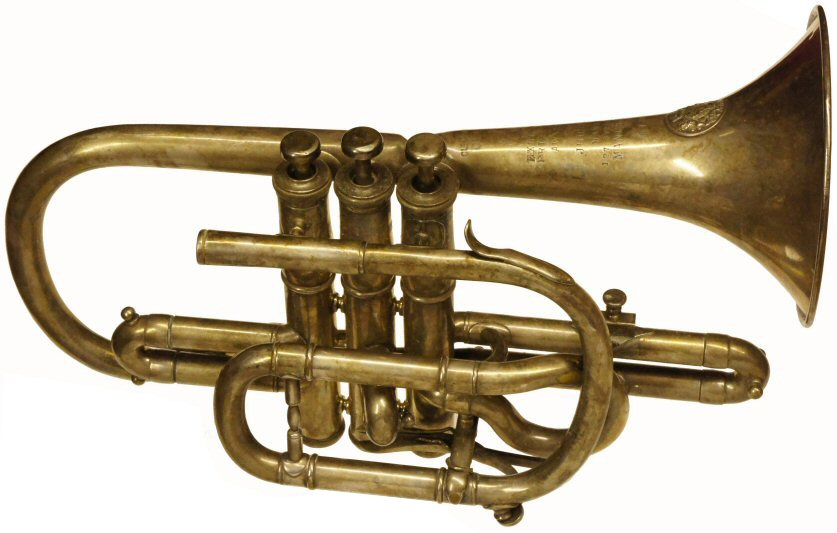 Higham Cornet C1920. Serial number 61388. Restoration project. Valves are tight so it will play when restored. Instrument only. Price £100.00