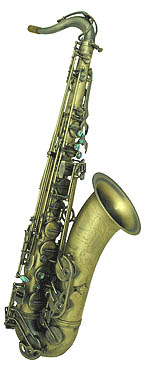 Mautiat System 76 Tenor Sax. Vintage French sound. Rolled tone holes. Dark vintage lacquer. Flared bell. Abalone key touches. Super Jazz VI neck. Extra hand engraving on bell & bow. Double arms on low B & C keys