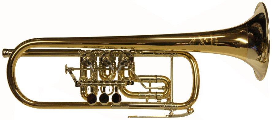 Second Hand Scherzer Rotary Valve Trumpet in C