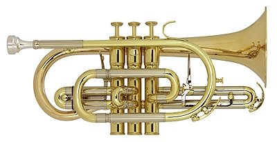 The York Preference cornet YO-CO3028 has the large, full sound that is sought after by brass bands and soloists alike. The cornet's rose brass bell allows for a dark sound that not only projects, but blends beautifully. It is ideally suited for the brass or military band