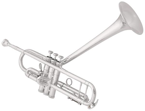 King Tub Silver Flair Dizzy Model on Rotary Valve Trumpet